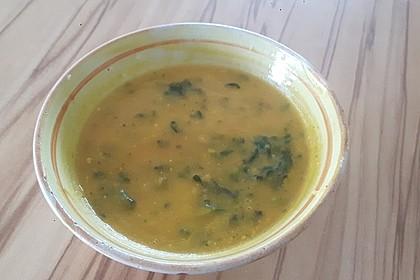 Kokos - Möhren - Spinat - Suppe 8