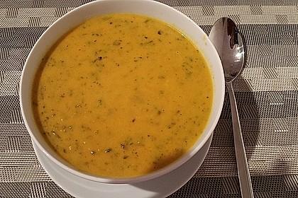 Kokos - Möhren - Spinat - Suppe 3