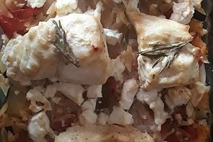 Fischfilet mit Kritharaki und Gemüse 4