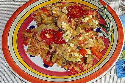 Fischfilet mit Kritharaki und Gemüse 11