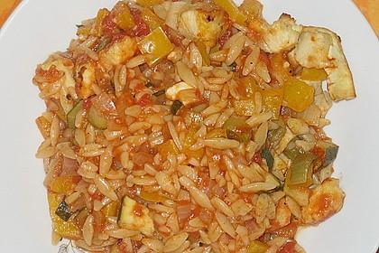 Fischfilet mit Kritharaki und Gemüse 5