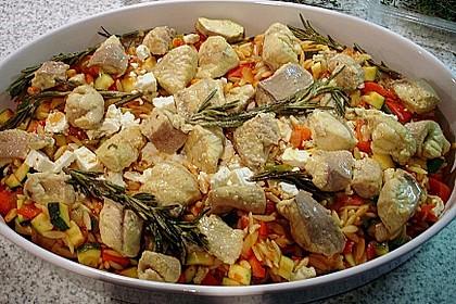 Fischfilet mit Kritharaki und Gemüse 7