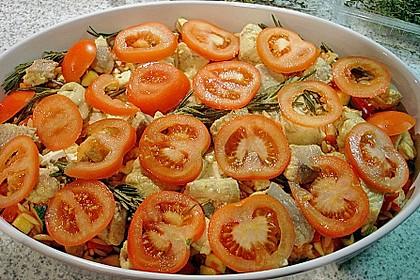 Fischfilet mit Kritharaki und Gemüse 8