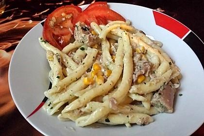 Spaghetti in Sahnesoße á la Steffi