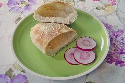 Pita - Brot mit Sesam 20