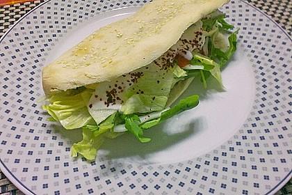 Pita - Brot mit Sesam 12
