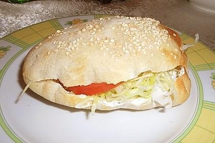 Pita - Brot mit Sesam 17