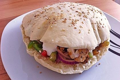 Pita - Brot mit Sesam 3