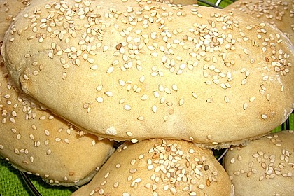 Pita - Brot mit Sesam 13