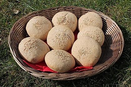 Pita - Brot mit Sesam 28