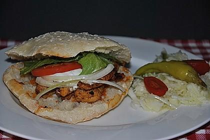 Pita - Brot mit Sesam 9