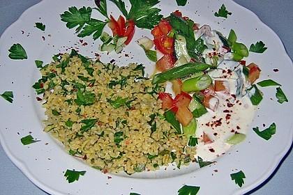 Petersiliensalat mit Joghurtsauce