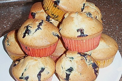 Mile high Blueberry Muffins 116