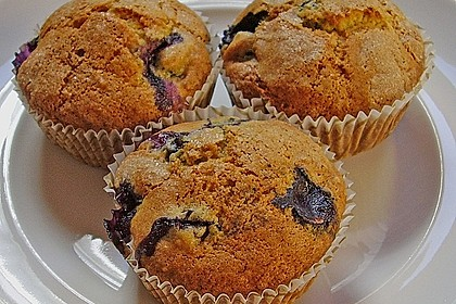 Mile high Blueberry Muffins 43