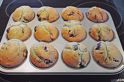 Mile high Blueberry Muffins 160