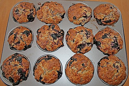 Mile high Blueberry Muffins 157