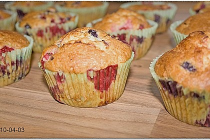 Mile high Blueberry Muffins 80