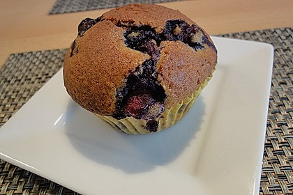 Mile high Blueberry Muffins 86