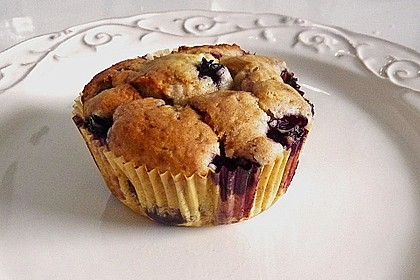 Mile high Blueberry Muffins 19