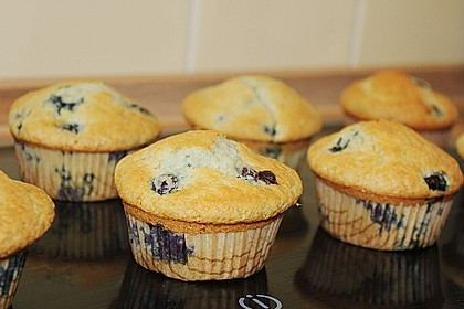 Mile high Blueberry Muffins 13