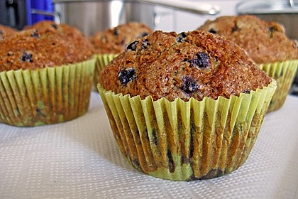 Mile high Blueberry Muffins 85