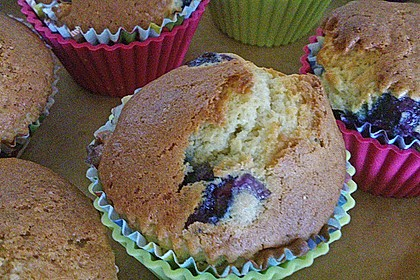 Mile high Blueberry Muffins 91