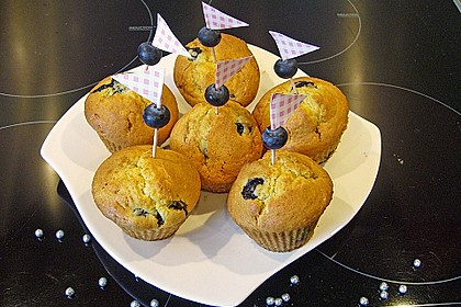 Mile high Blueberry Muffins 14