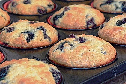 Mile high Blueberry Muffins 21