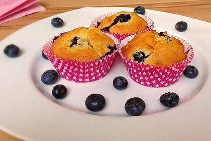 Mile high Blueberry Muffins 9