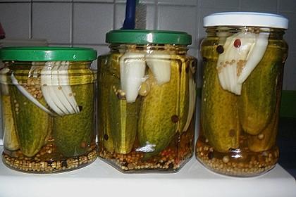 Schnelle Einlegegurken - Schnellgurken (Bild)