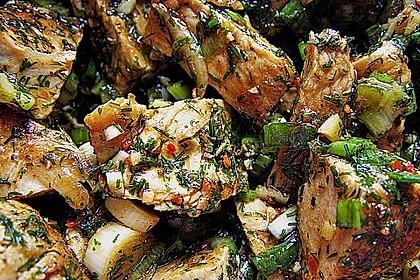 Scharfer Cajun - Puten - Salat 1