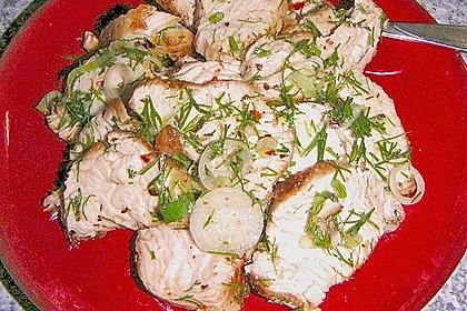 Scharfer Cajun - Puten - Salat 7