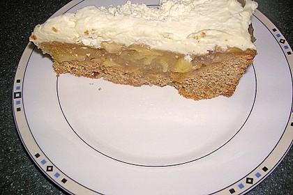 Apfelkuchen mit Sahne - Zimt - Haube 13