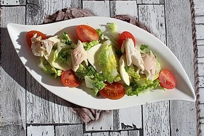 Salat mit geräucherter Forelle und Mozzarella (Bild)