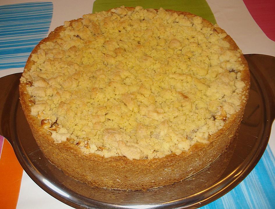 Apfel Streuselkuchen Mit Pudding Von Landmadl Chefkoch De