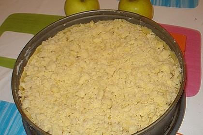 Apfel - Streuselkuchen mit Pudding 6