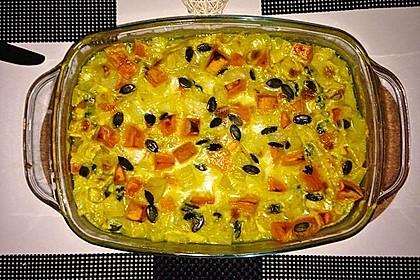 Kartoffel - Kürbis - Curry mit Kokosmilch 3