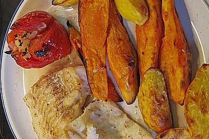 Rotbarsch mit Süßkartoffeln 14