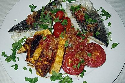 Rotbarsch mit Süßkartoffeln 9