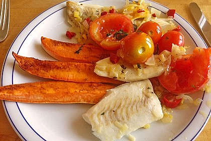 Rotbarsch mit Süßkartoffeln 12