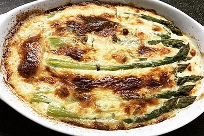 Albertos grüner Spargel mit Parmesancreme 26