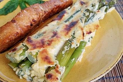 Albertos grüner Spargel mit Parmesancreme 5
