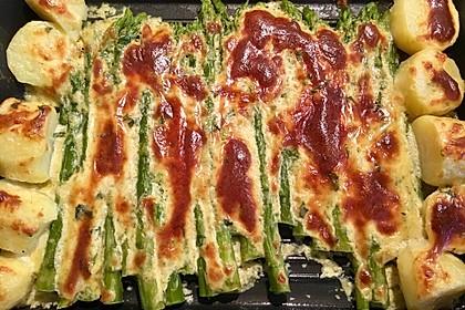 Albertos grüner Spargel mit Parmesancreme 29