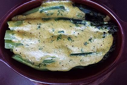 Albertos grüner Spargel mit Parmesancreme 87