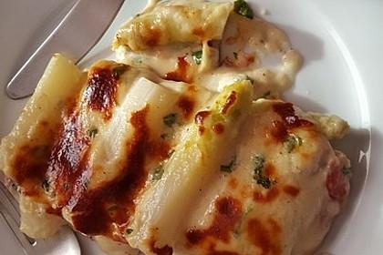Albertos grüner Spargel mit Parmesancreme 14