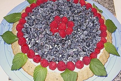 Mascarpone - Torte mit Ribisel und Heidelbeeren (Bild)