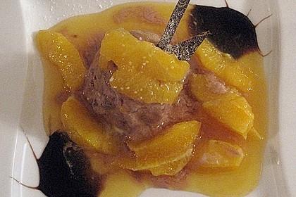 Lebkuchenparfait mit Gewürzorangen 46