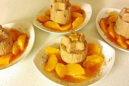Lebkuchenparfait mit Gewürzorangen 7