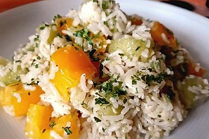 Italienischer Reis - Melonen - Salat 3