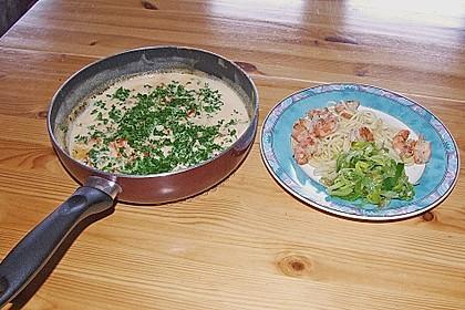 Spaghetti mit Scampi und Lauch/Porree - Gemüse 1